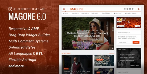 magone premium blogger template download