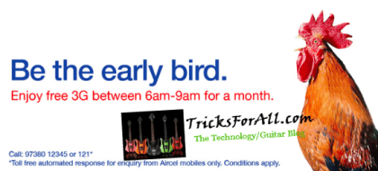 free 3g on aircel