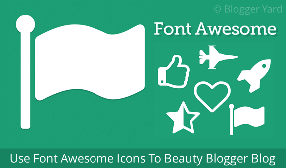 ont Awesome Icons For Blogger