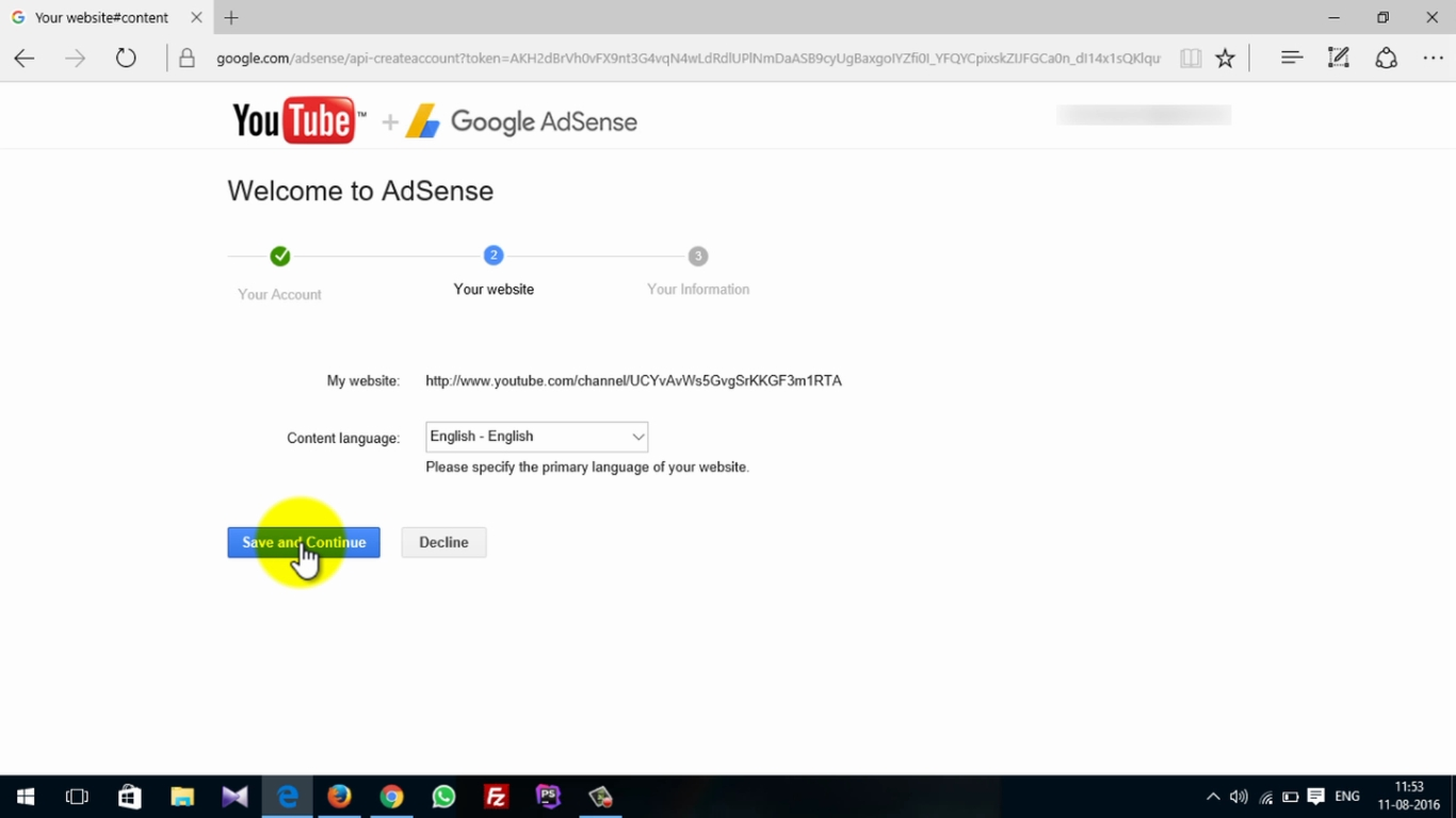 how to make adsense account for youtube