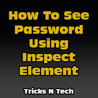 How To See Password Using Inspect Element