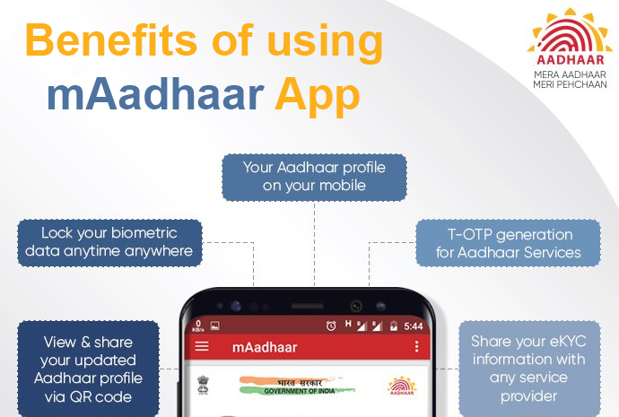 Benefits of using mAadhaar App
