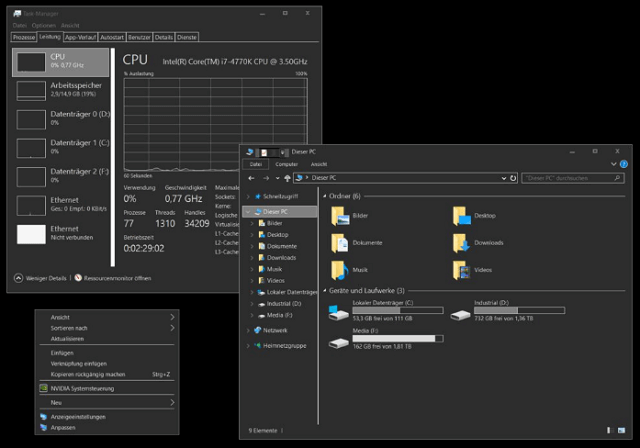 windows 10 official dark theme