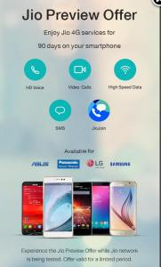 Jio Extended Preview offer Asus & Panasonic Devices
