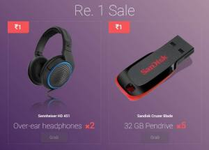 Eyezon Rs 1 Flash Sale Buy Headphones, Pendrives