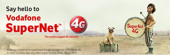 Vodafone Offers 4 Times 4G Free Internet Data On Every Pack