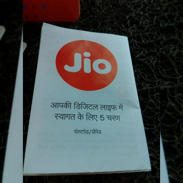 Reliance Jio Prepaid startup kit