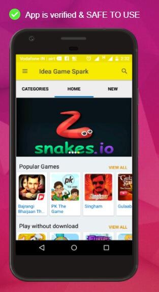 Get Idea 4G Free Internet Data for Downloading Idea Game Spark