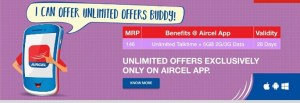 Aircel Counters Reliance Jio Offering Unlimited Voice Calls along with 5GB 3G2G Free Internet Data Just at Rs. 146