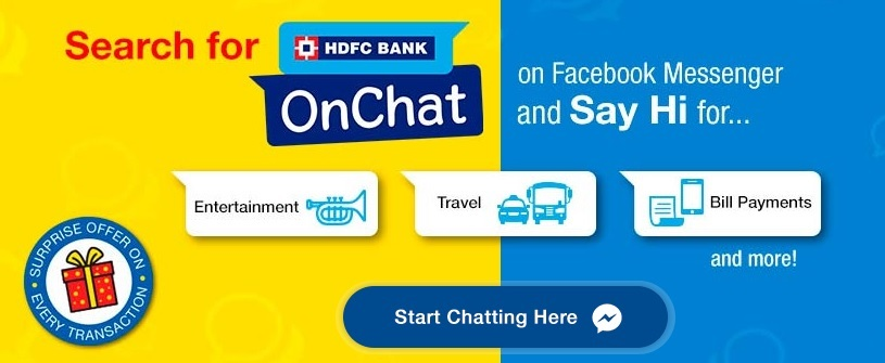 HDFC Bank OnChat Get Free Rs 50 Cashback on Rs 100