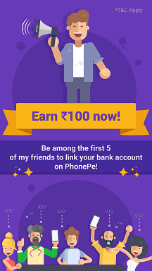 PhonePE Offers Download App and Get Free Rs 100