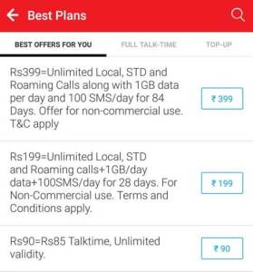 Airtel New Rs 399 Prepaid Plan 1GB Free Internet Data