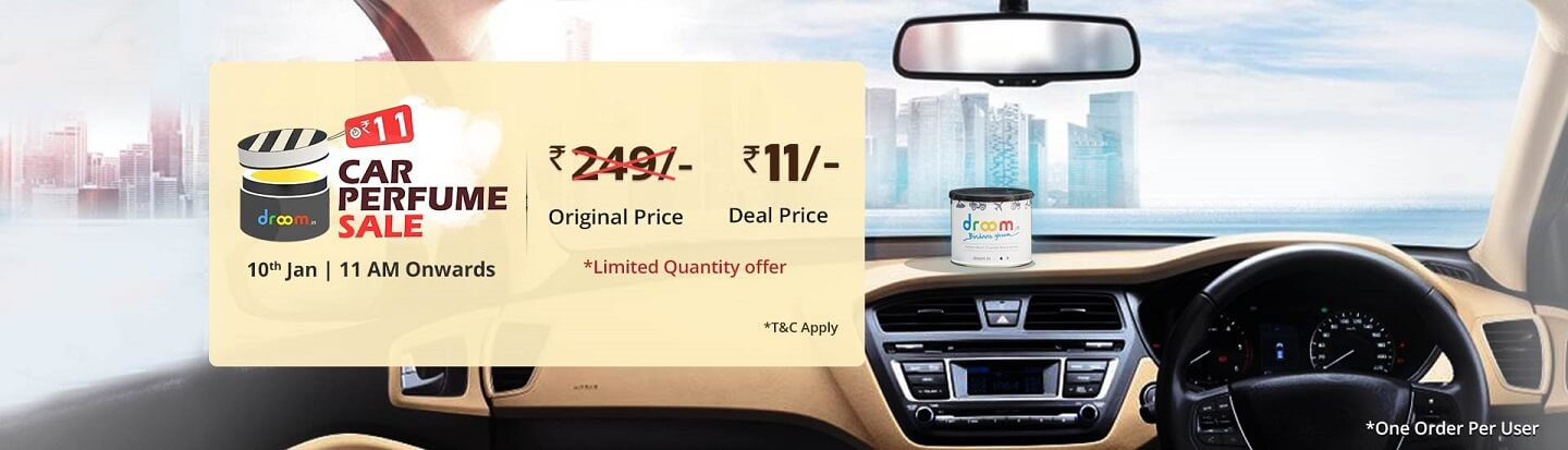 Droom Car Perfume Sale at Rs 11 Only