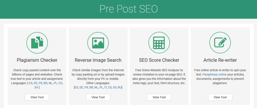 Plagiarism checker by Prepost SEO