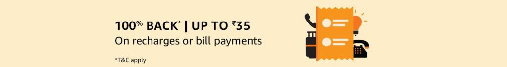 Amazon Pay Cashback Mobile Recharges