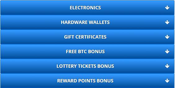 Reward Point Prizes