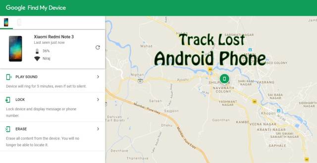 Track Lost Android Phone