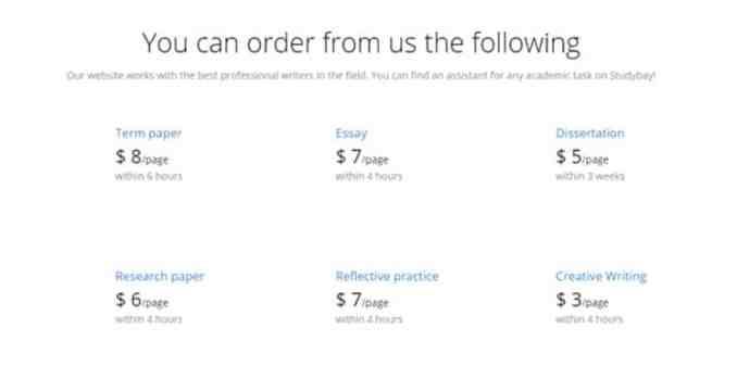 StudyBay Order
