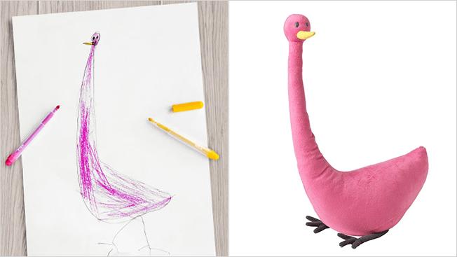 ikea flamingo toy