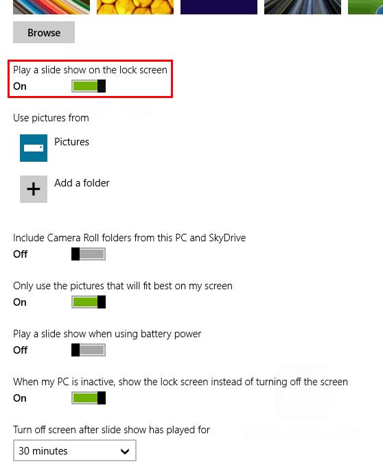 play-slide-show-on-lock-screen-windows-8