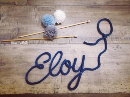 Prénom Eloy au tricotin