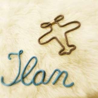 Prénom Ilan au tricotin