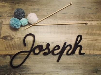 Prénom Joseph au tricotin