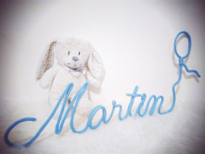 Prénom Martin au tricotin