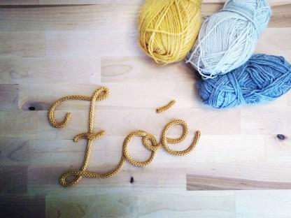 Zoé tricotin cursive