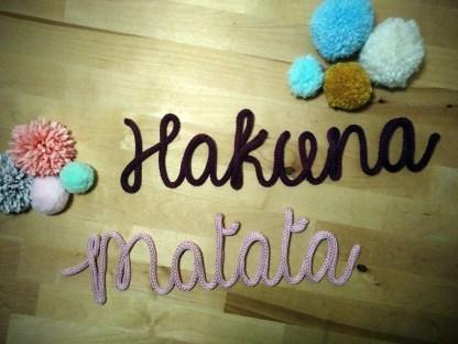 Hakuna Matata en tricotin