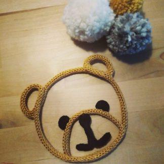 Tête d'ours en tricotin