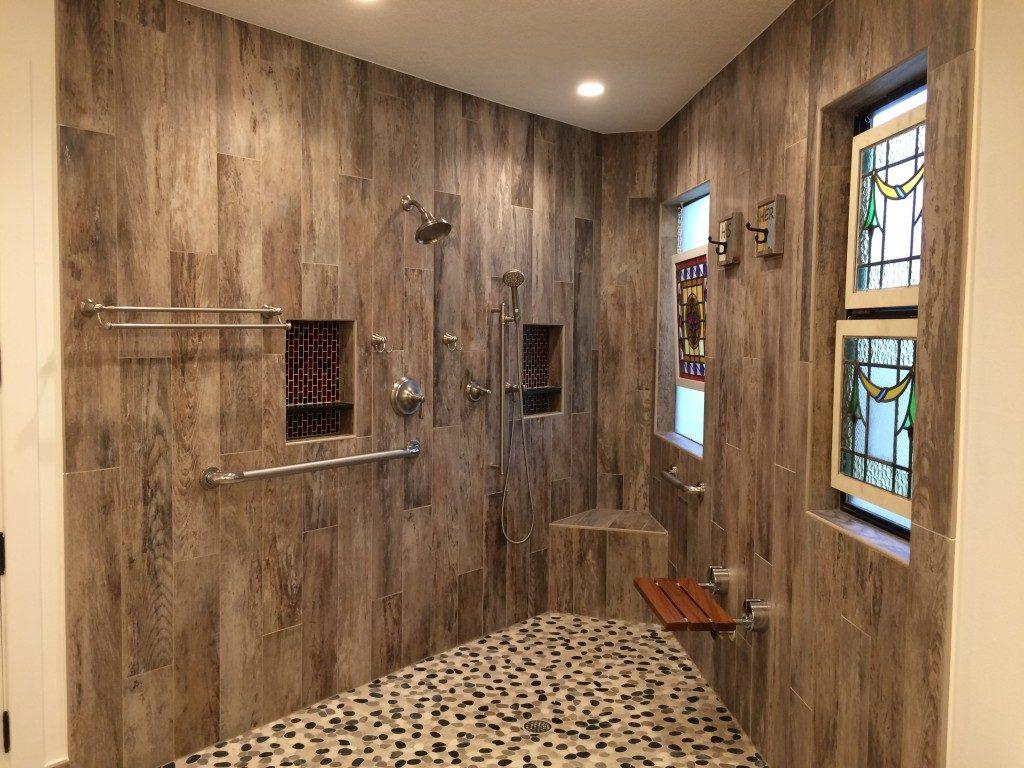 functional bathroom remodel piney