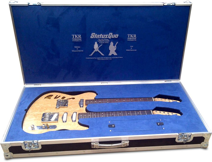 Bespoke Flight Case for Double Neck Guitar