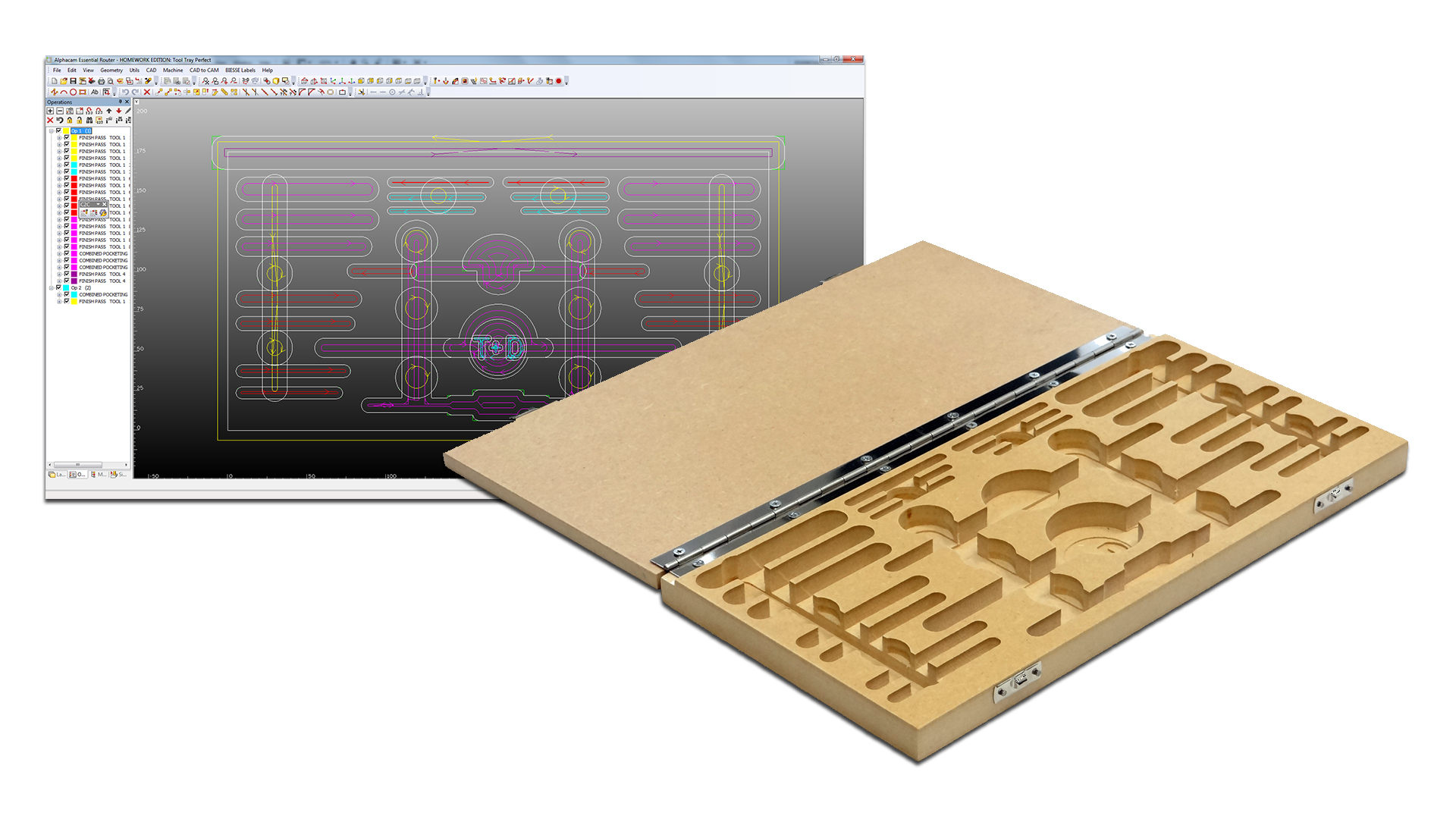 AlphaCam CNC Routing Design