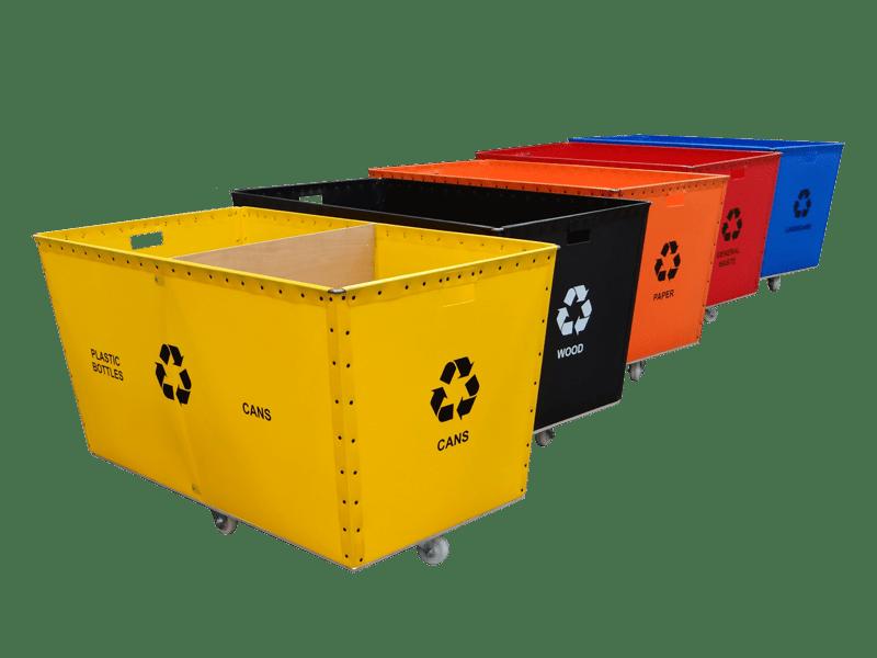 Printing Recycling Poly Bins