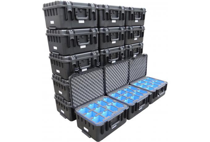 Bespoke foam inserts for group of waterproof cases