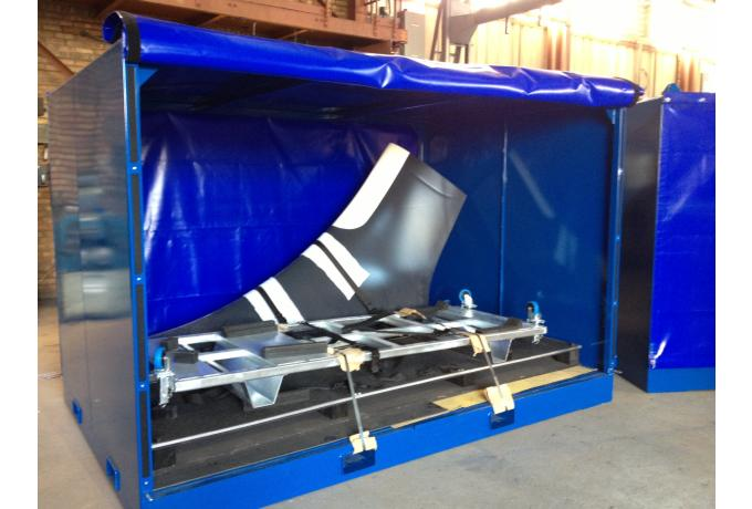 shipping container for aeroplane parts