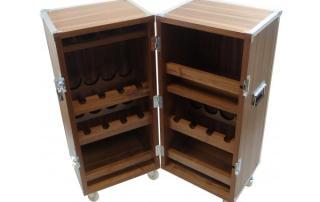 handmade flight case drinks cabinet