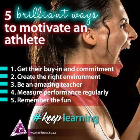 sports coach and a personal trainer motivation