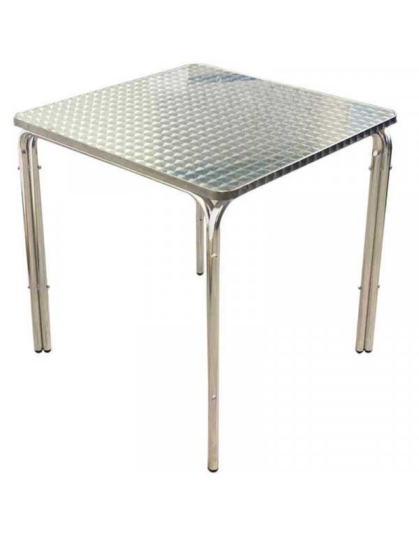 table carree inox 70 x 70 empilable