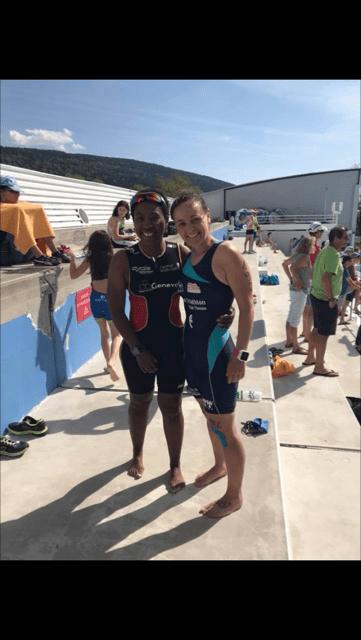 Céline Marti 2ème au aquathlon d'Oyonnax