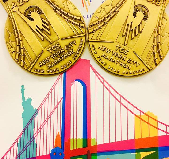 Mélanie et Cédric au NYC Marathon