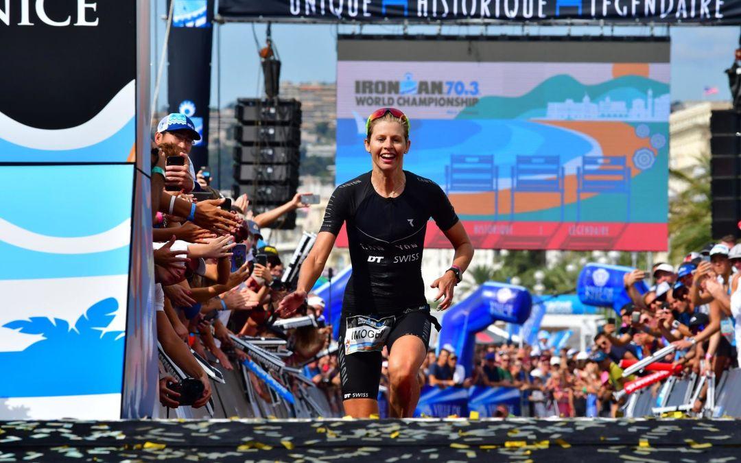 Imogen Simmonds 3ème aux championnats du monde d'ironman à Nice