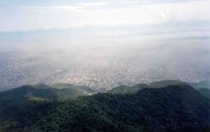 A cidade do Rio lá em baixo