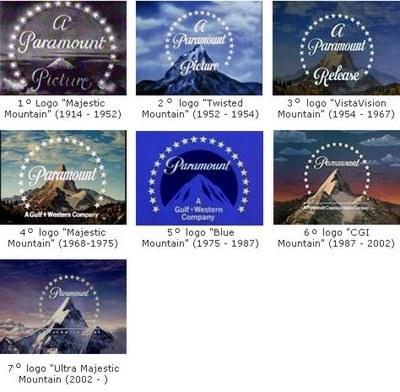 Evolução do Logotipo da Paramount
