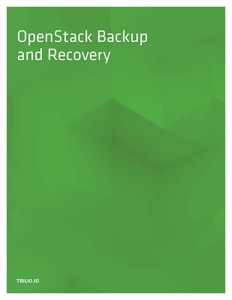 Thumbnail of an OpenStack Backup & Recovery 2018 Whitepaper