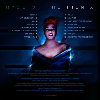 RyattFienix - Ryse of The Fienix (Album Stream) back cover