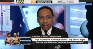 Skip Bayless & Stephen A. Smith react to Mayweather vs Pacquiao