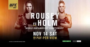 UFC 193: Rousey vs Holm - Once in History (Video)