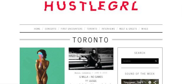 hustlegrl.com toronto hip hop blogs
